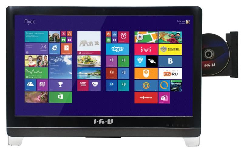 Моноблок IRU T2305, Intel Pentium G3240, 4Гб, 500Гб, Intel HD Graphics, DVD-RW, noOS, черный [967582]