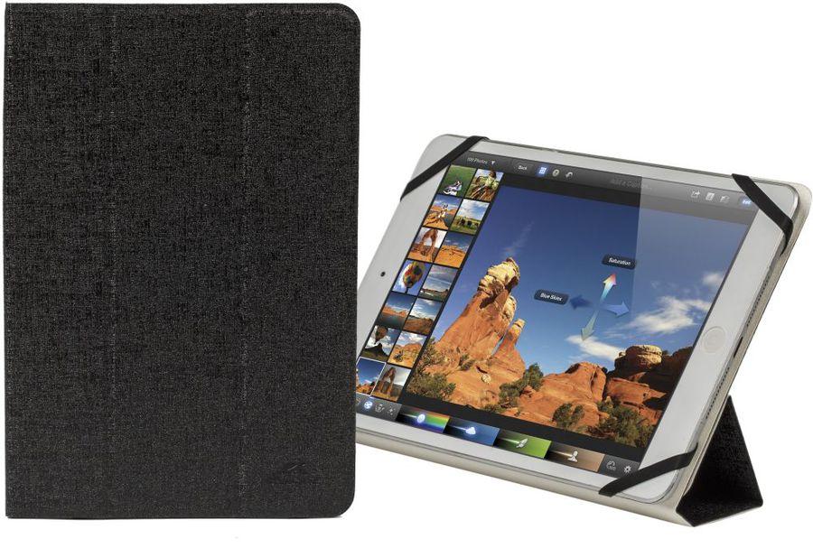 """Чехол для планшета RIVA 3122,  черный/белый, для  планшетов 7.8"""""""