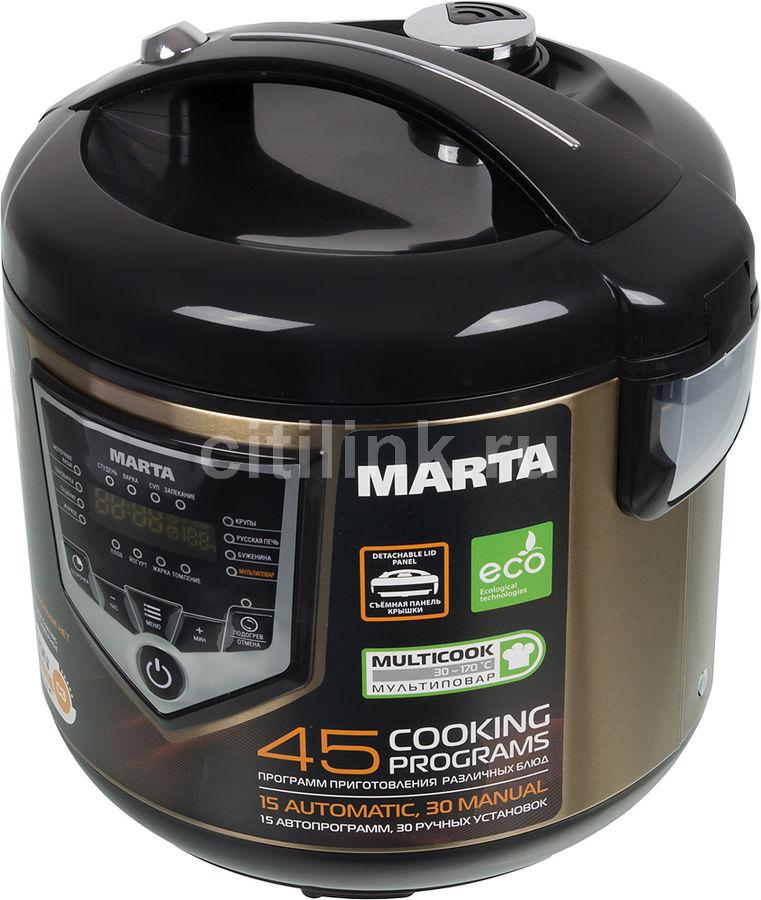 Мультиварка MARTA MT-4300,  860Вт,   черный/золотистый [29567]