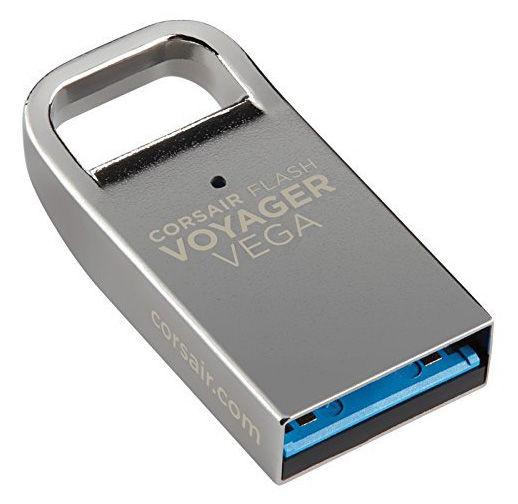 Флешка USB CORSAIR Voyager Vega 32Гб, USB3.0, серебристый [cmfvv3-32gb]