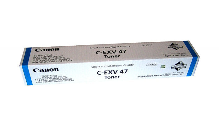 Тонер CANON C-EXV47C,  для iR-ADV С351iF/C350i/C250i,  голубой, туба