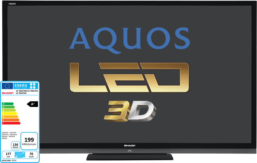 "LED телевизор SHARP Aquos LC60LE741E-RU  ""R"", 60"", 3D,  FULL HD (1080p),  черный"