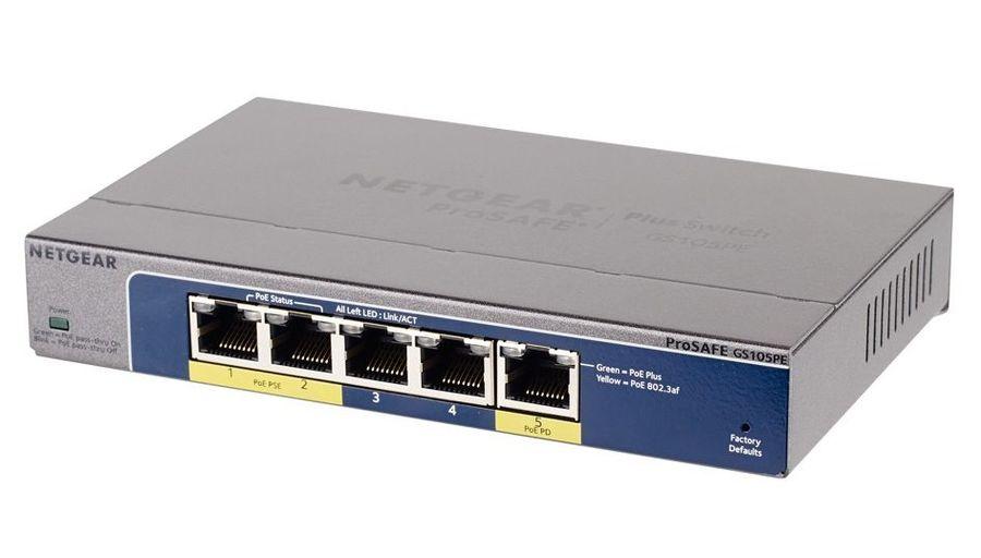 Коммутатор NETGEAR ProSafe GS105PE-10000S