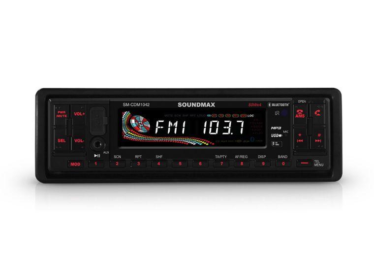 Автомагнитола SOUNDMAX SM-CDM1042,  USB,  SD/MMC