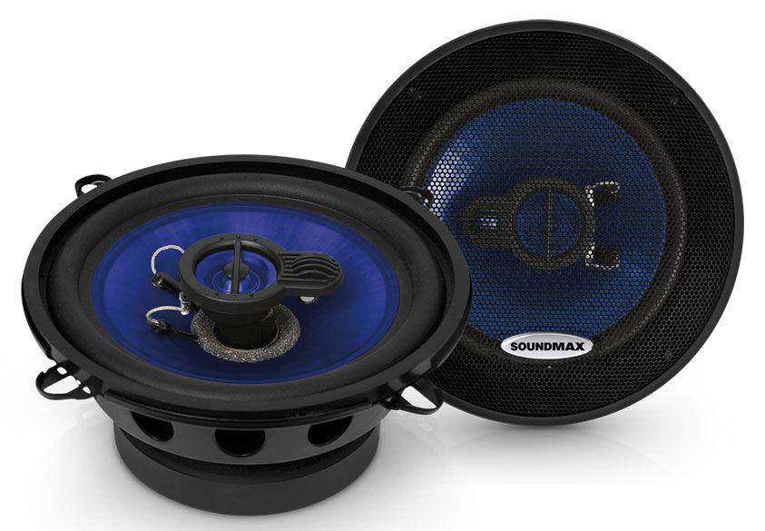 Колонки автомобильные SOUNDMAX SM-CSE503,  коаксиальные,  120Вт,  комплект 2 шт.
