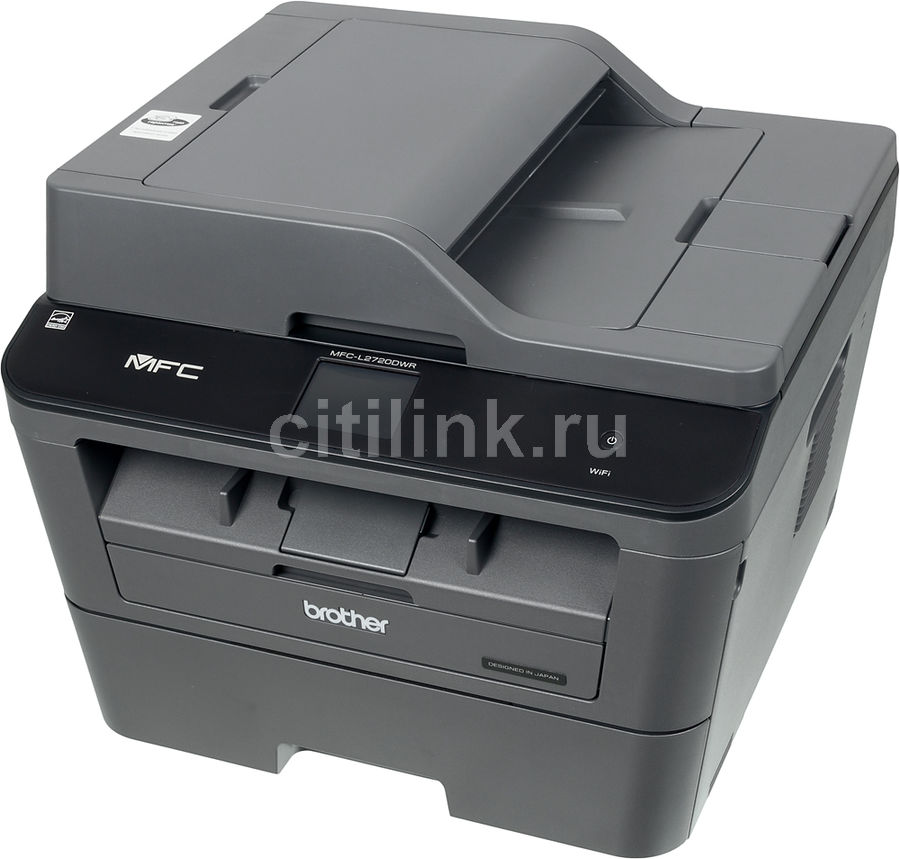 МФУ BROTHER MFC-L2720DWR,  A4,  лазерный,  черный [mfcl2720dwr1]
