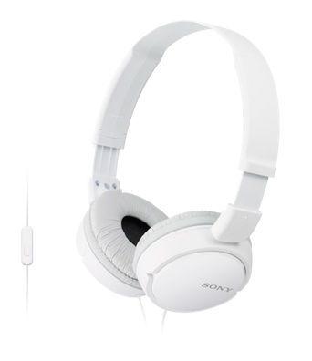 Наушники с микрофоном SONY MDR-ZX110AP, 3.5 мм, мониторы, белый [mdrzx110apw.ce7]