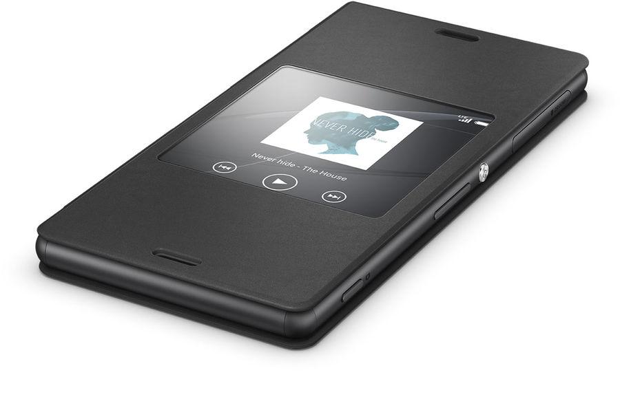 Чехол (флип-кейс) SONY Style Cover Window SCR24, для Sony Xperia Z3, черный [scr24 black]