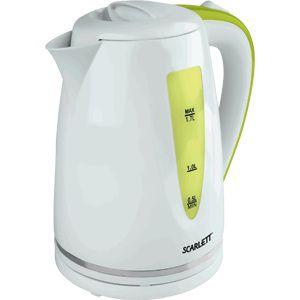 Чайник электрический SCARLETT SC-EK18P06, 2200Вт, белый и зеленый