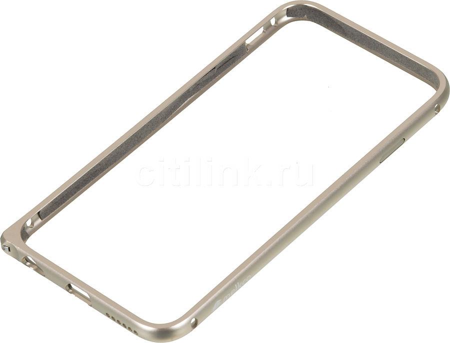 Бампер MELKCO Q Arc Aluminum, для Apple iPhone 6, золотистый [apip6falqagdme]