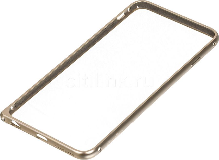 Бампер MELKCO Q Arc Aluminum, для Apple iPhone 6 Plus, золотистый [apip65alqagdme]