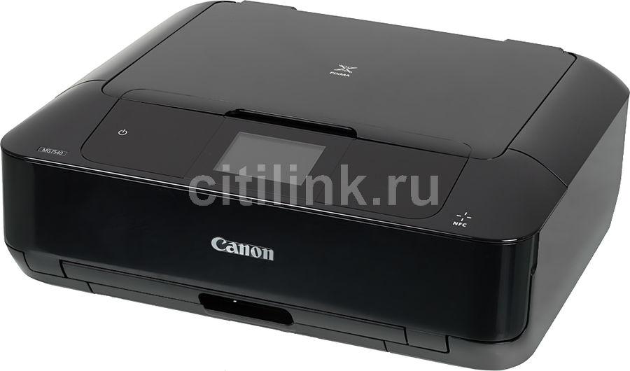 МФУ CANON Pixma MG7540, A4, цветной, струйный, черный [9489b007]
