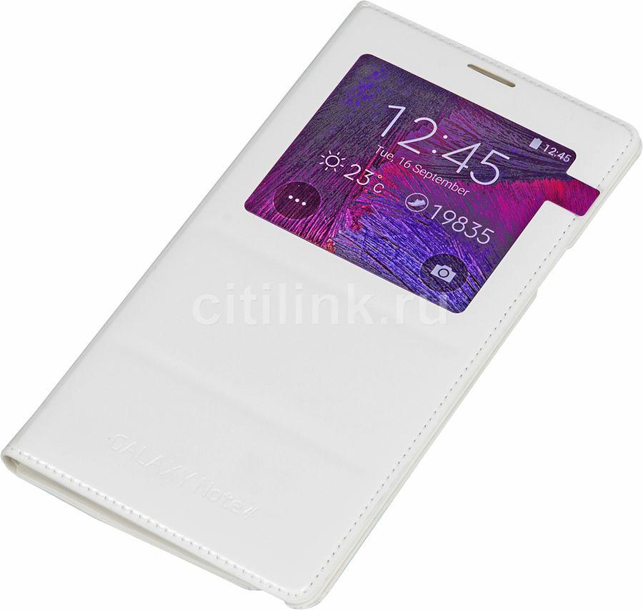 Чехол (флип-кейс) SAMSUNG EF-CN910BWEGRU, для Samsung Galaxy Note 4, белый