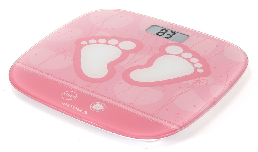 Весы SUPRA BSS-6055, до 150кг, цвет: розовый [6605]