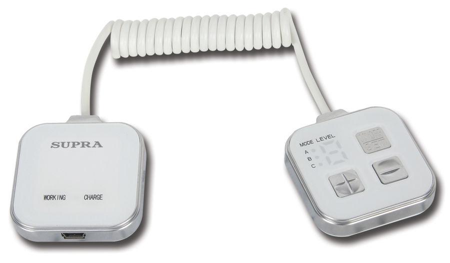 Массажер SUPRA MBS-112,  белый,  серебристый