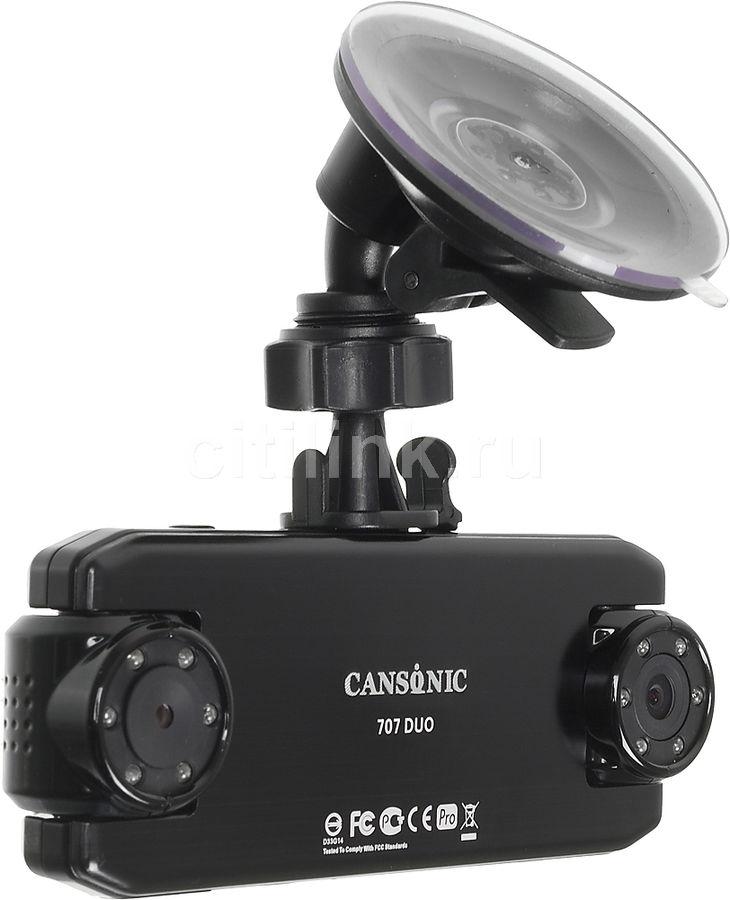 Видеорегистратор CANSONIC 707 DUO PRO черный