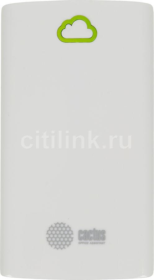 Внешний аккумулятор CACTUS PowerBank CS-PBA40-4700WB,  4700мAч,  белый/зеленый