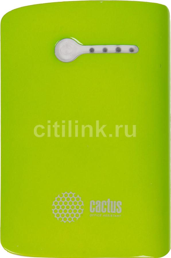 Внешний аккумулятор CACTUS CS-PBX3-7800WG,  7800мAч,  зеленый/белый