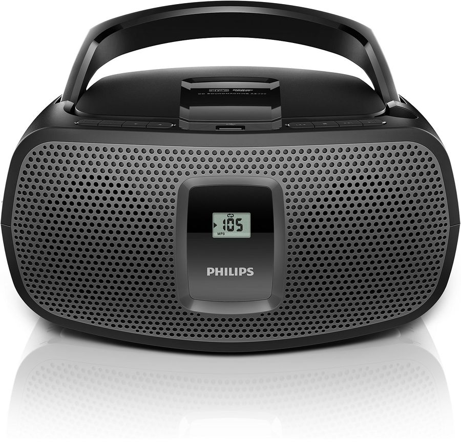 Аудиомагнитола PHILIPS AZ-390/12,  черный