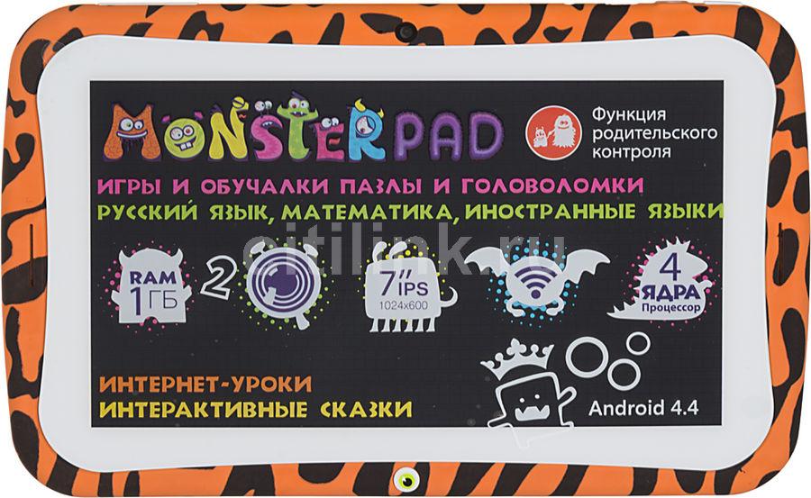 Детский планшет TURBO MonsterPad 8Gb,  Wi-Fi,  Android 5.1,  оранжевый/черный [рт00020440]