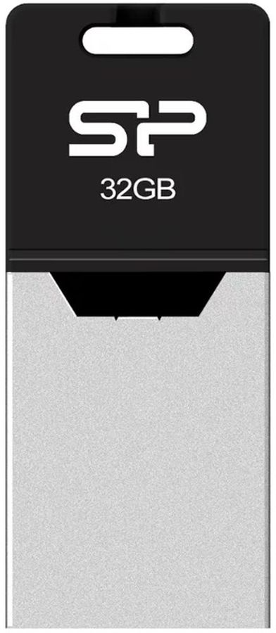 Флешка USB SILICON POWER Mobile X20 32Гб, USB2.0, серебристый [sp032gbuf2x20v1k]
