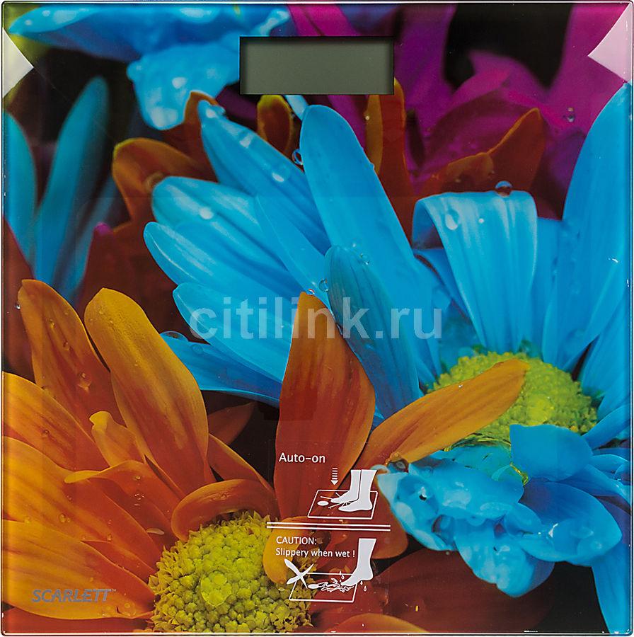 Весы SCARLETT SC-BS33E001, до 150кг, цвет: рисунок