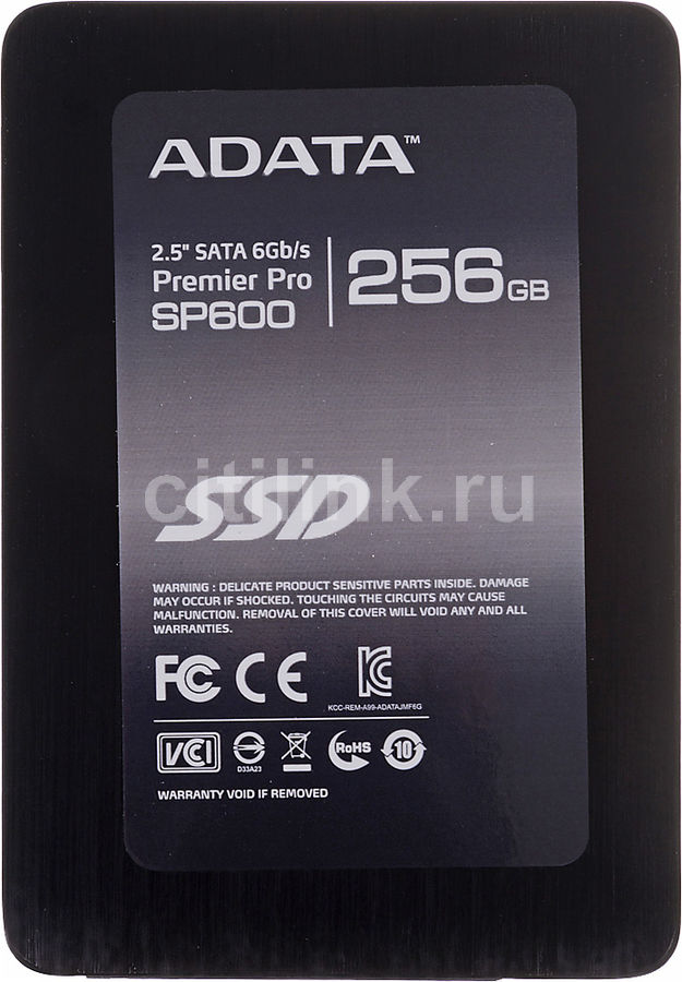 "Накопитель SSD A-DATA Premier Pro SP600 ASP600S3-256GM-C 256Гб, 2.5"", SATA III"