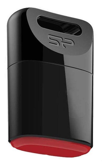 Флешка USB SILICON POWER Touch T06 32Гб, USB2.0, черный [sp032gbuf2t06v1k]