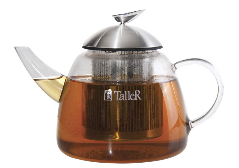 Заварочный чайник TALLER TR-1348,  1.2л,  прозрачный