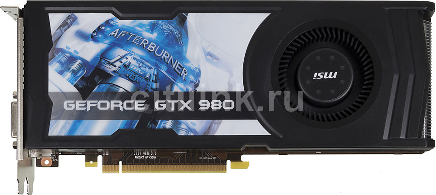 Видеокарта MSI GeForce GTX 980,  GTX 980 4GD5 OCV1,  4Гб, GDDR5, Ret