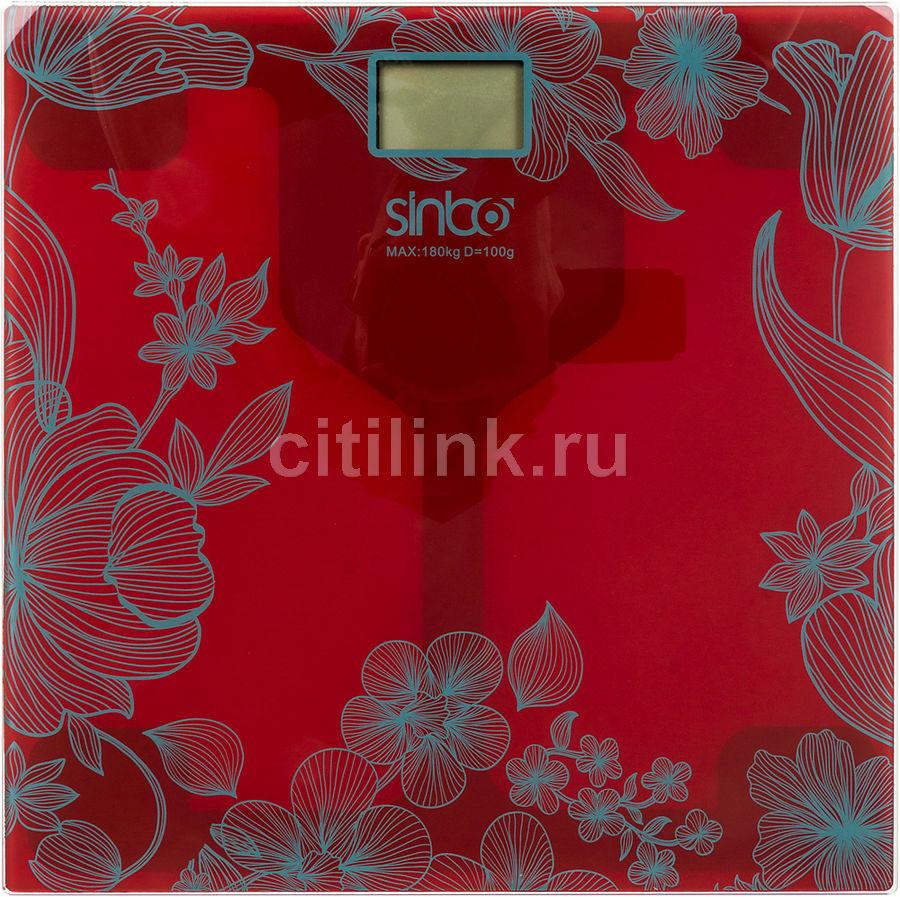 Напольные весы SINBO SBS 4429, до 180кг, цвет: красный