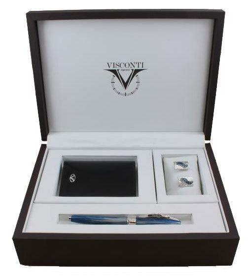Набор подарочный Visconti Salvador Dali (004-124-66518-015) синий роллер, запонки, бумажник