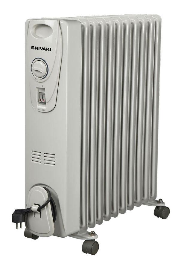 Масляный радиатор SHIVAKI SHOL-25112C, 2500Вт, белый