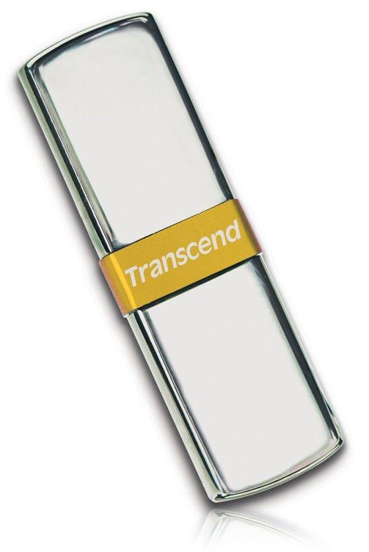 Флешка USB TRANSCEND Jetflash V85 8Гб, USB2.0, серебристый и золотистый [ts8gjfv85]