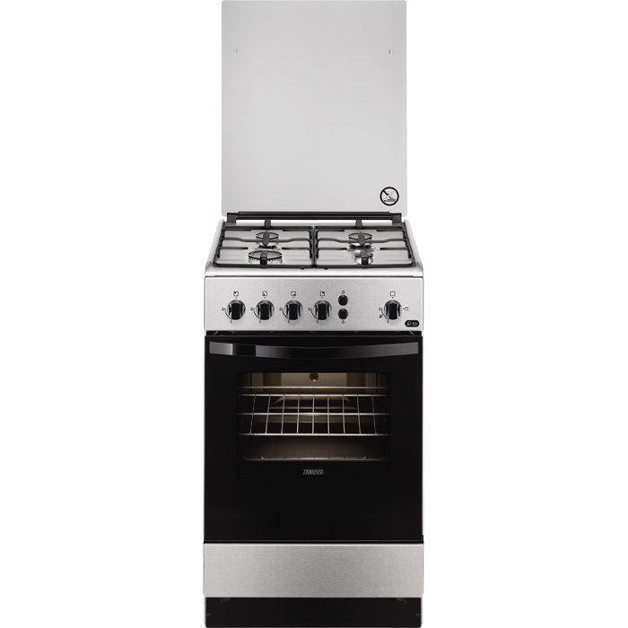 Газовая плита ZANUSSI ZCG951021X,  газовая духовка,  серебристый
