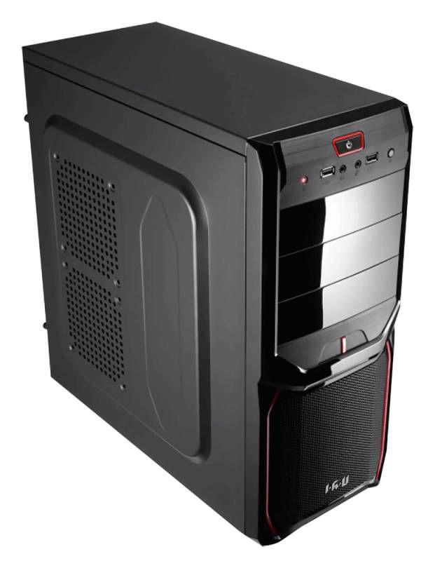 Компьютер  IRU Corp City,  Intel  Core i5  4440,  DDR3 8Гб, 1Тб,  Intel HD Graphics 4600,  DVD-RW,  noOS,  черный и красный