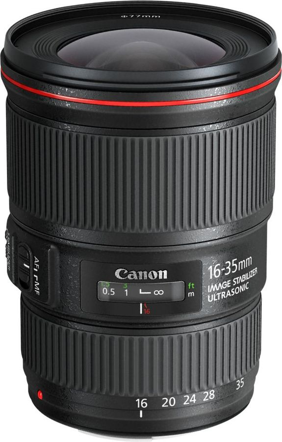 Объектив CANON 16-35mm f/4L EF IS USM, Canon EF, черный [9518b005] 1 4