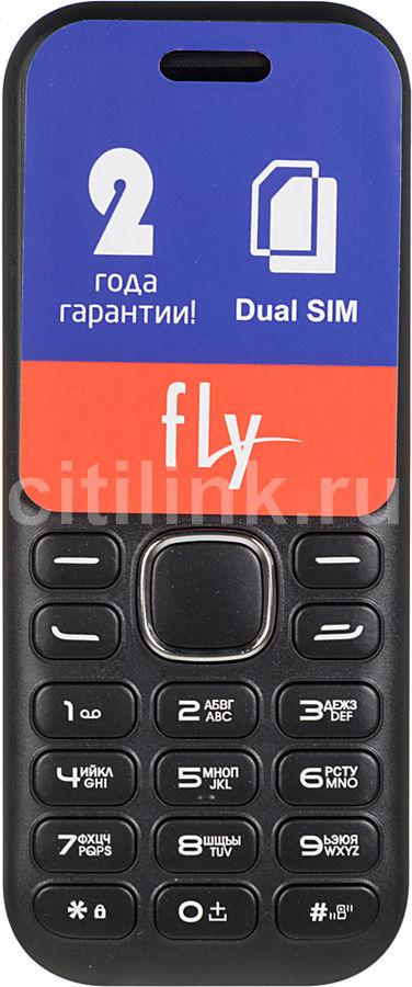 Мобильный телефон FLY DS104D  черный