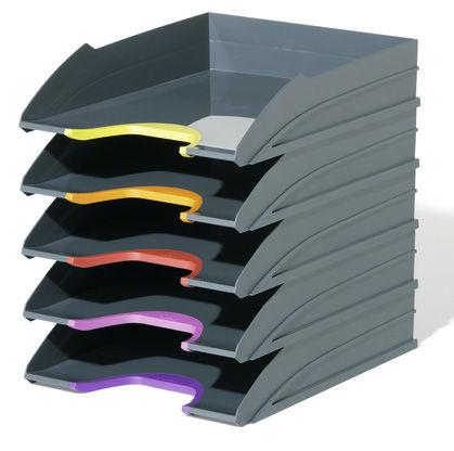 Лоток горизонтальный Durable 7705-57 Varicolor A4 ассорти/серый пластик (упак.:5шт)