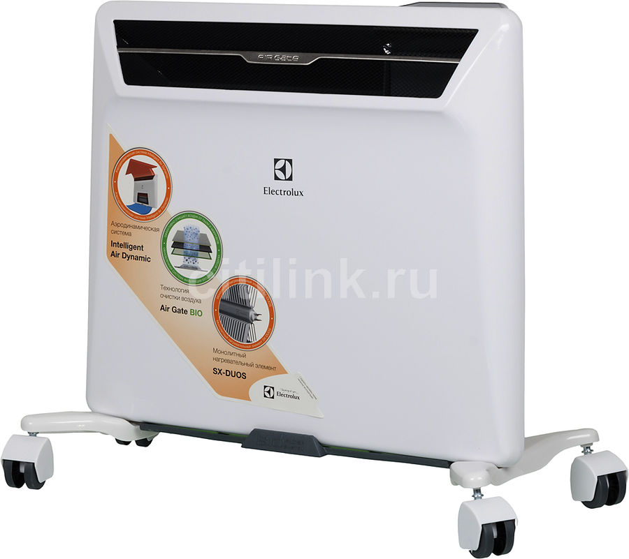 Конвектор ELECTROLUX Air Gate 2 ECH/AG2-500EF,  500Вт,  белый