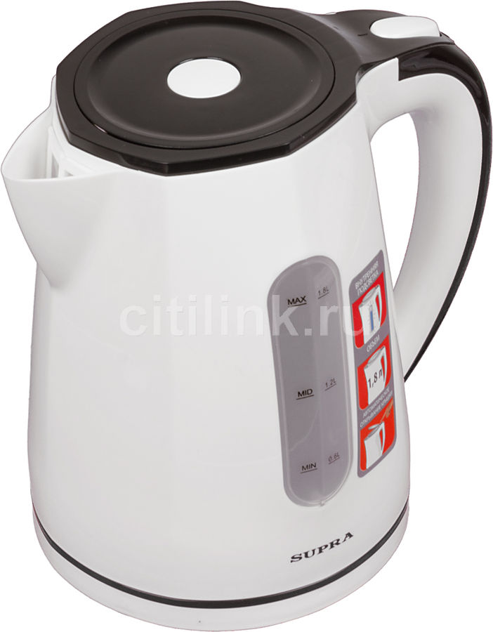 Чайник электрический SUPRA KES-1822, 2200Вт, белый и черный