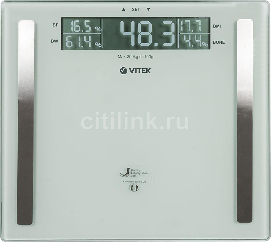 Весы VITEK VT-1967, до 200кг, цвет: белый [1967-vt-02]