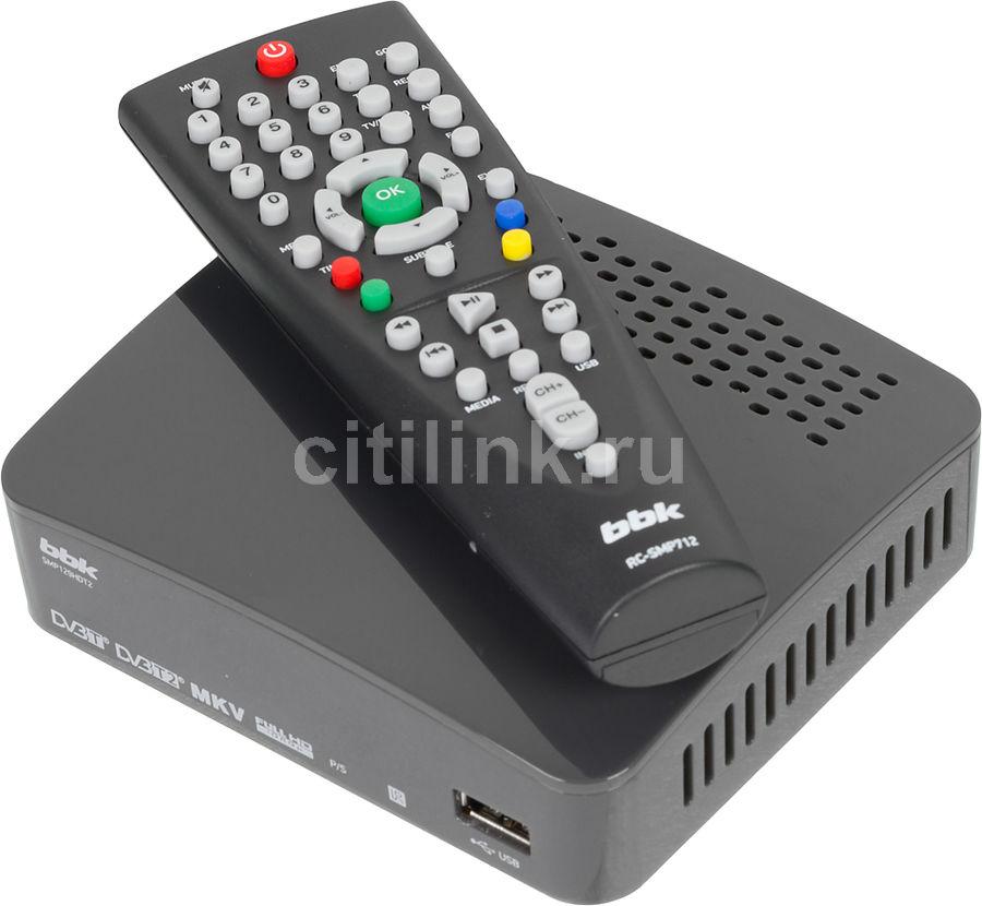 Ресивер DVB-T2 BBK SMP129HDT2,  темно-серый [(dvb-t2) dvb-t smp129hdt2 т-с]