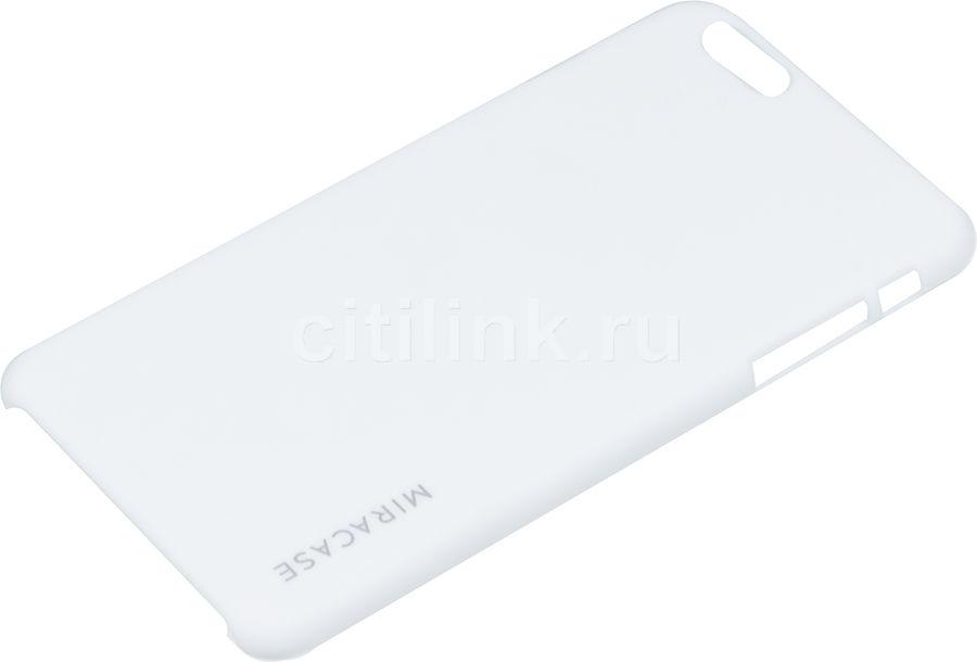 Чехол (клип-кейс) MIRACASE Quicksand, для Apple iPhone 6 Plus, белый [ms-8403]