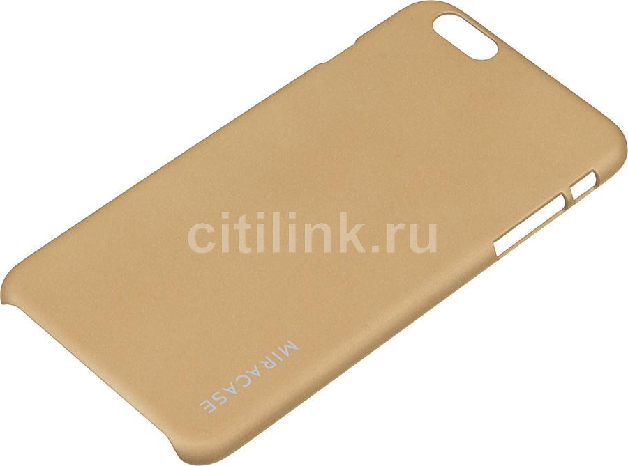 Чехол (клип-кейс) MIRACASE Quicksand, для Apple iPhone 6 Plus, золотистый [ms-8403]