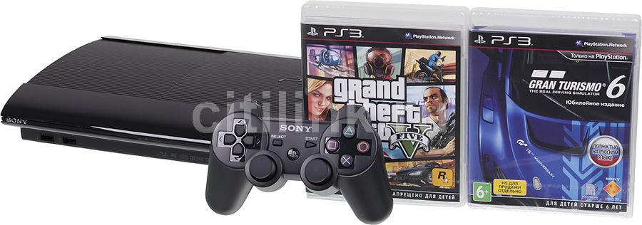 Игровая консоль SONY PlayStation 3 PS719853817, черный