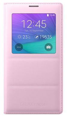 Чехол (флип-кейс) SAMSUNG EF-CN910BPEGRU, для Samsung Galaxy Note 4, розовый