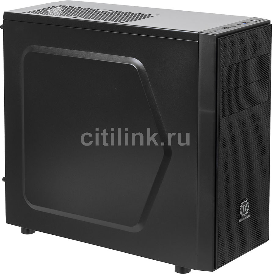 Корпус ATX THERMALTAKE Versa H24, Midi-Tower, без БП,  черный