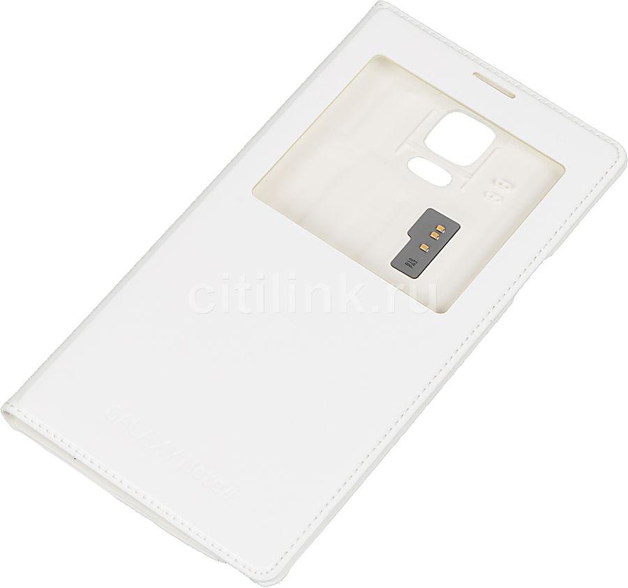 Чехол (флип-кейс) SAMSUNG S View, для Samsung Galaxy Note 4, белый [ef-cn910ftegru]