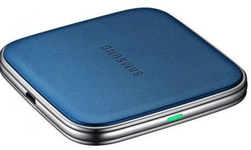 Беспроводное зарядное устройство SAMSUNG Wireless Charging Pad (EP-PG900ILRGRU),  синий